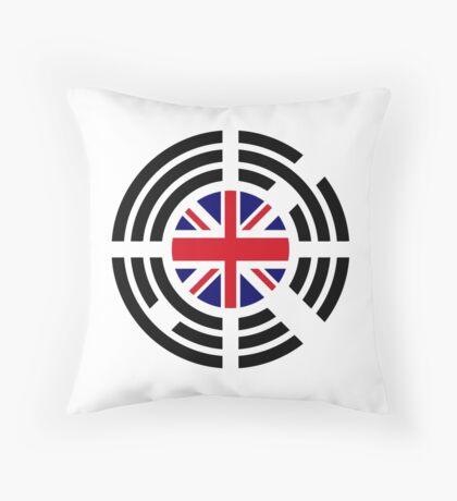 Korean Brit Multinational Patriot Flag Series Throw Pillow