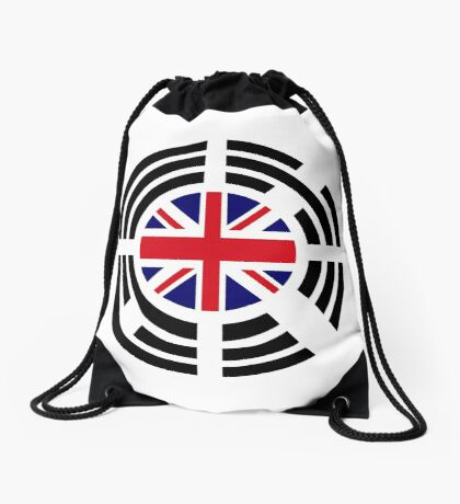 Korean Brit Multinational Patriot Flag Series Drawstring Bag
