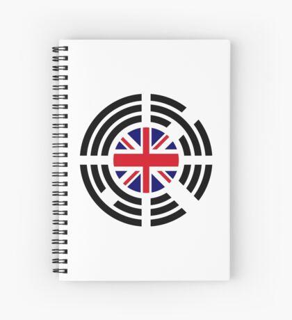 Korean Brit Multinational Patriot Flag Series Spiral Notebook