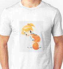 Basketball cartoon girl character Unisex T-Shirt