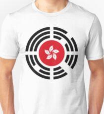 Korean Hong Kong Multinational Patriot Flag Series Slim Fit T-Shirt