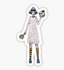 Paper dress Sticker