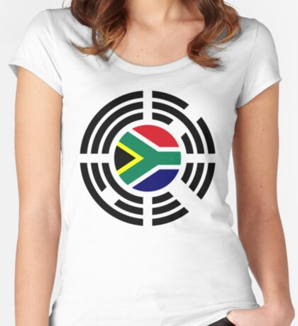 Korean South African Multinational Patriot Flag Series Fitted Scoop T-Shirt