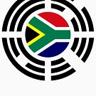 Korean South African Multinational Patriot Flag Series by Carbon-Fibre Media