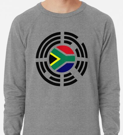 Korean South African Multinational Patriot Flag Series Lightweight Sweatshirt
