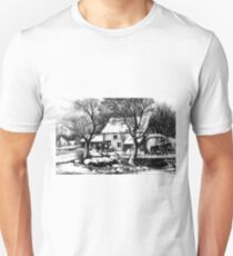 Frozen up - 1872 - Currier & Ives Unisex T-Shirt