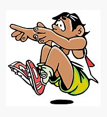 Athletics sport cartoon art Photographic Print