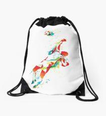Colorful splash soccer goal keeper Drawstring Bag