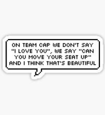 Team Cap Sticker