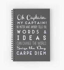 Cuaderno de espiral Oh Capitán Mi Capitán