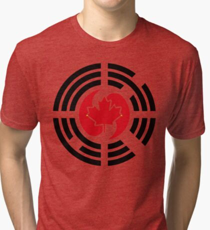 Korean Canadian Multinational Patriot Flag Series Tri-blend T-Shirt