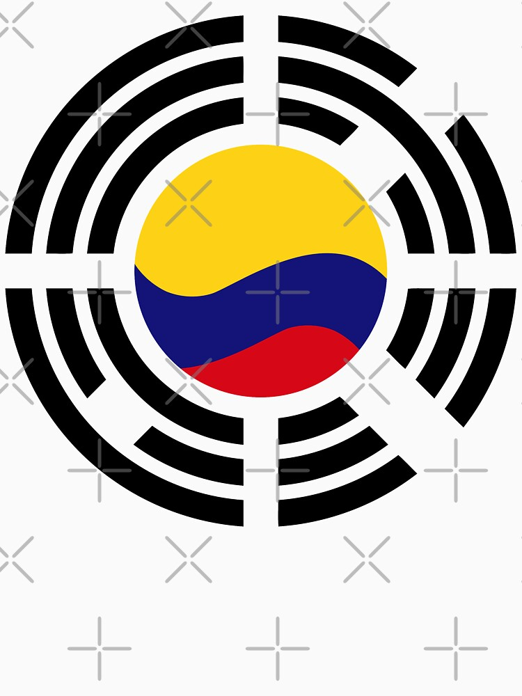 Korean Colombian Multinational Patriot Flag Series by carbonfibreme