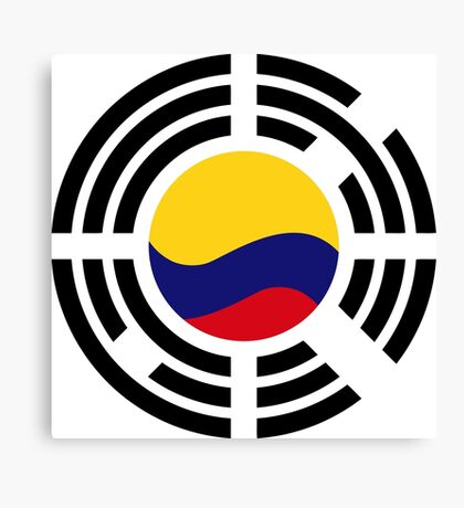 Korean Colombian Multinational Patriot Flag Series Canvas Print