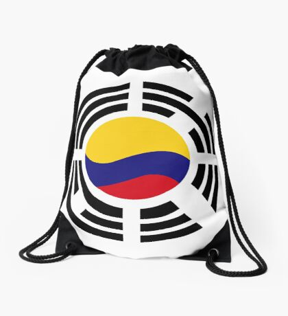 Korean Colombian Multinational Patriot Flag Series Drawstring Bag