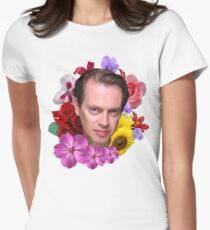 Steve Buscemi - Floral Womens Fitted T-Shirt