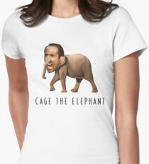 Nicolas Cage The Elephant Womens Fitted T-Shirt