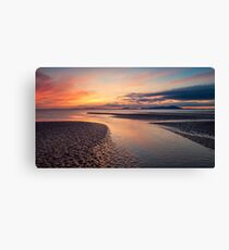 Fire Over The Firth Canvas Print