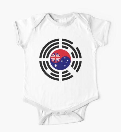 Korean Australian Multinational Patriot Flag Series Kids Clothes