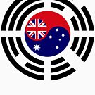 Korean Australian Multinational Patriot Flag Series by Carbon-Fibre Media