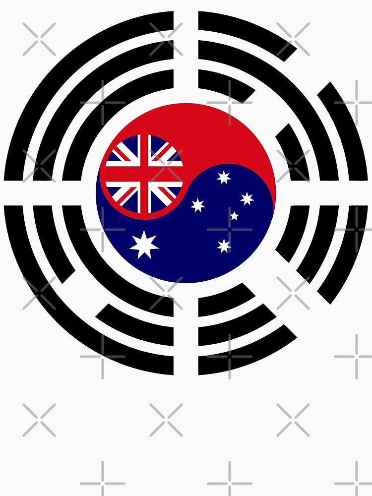 Korean Australian Multinational Patriot Flag Series by carbonfibreme