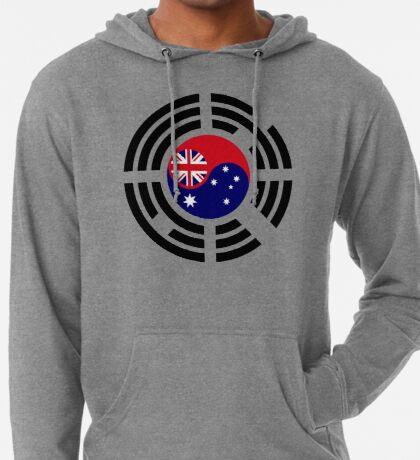 Korean Australian Multinational Patriot Flag Series Lightweight Hoodie
