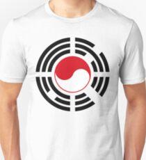 Korean Indonesian Multinational Patriot Flag Series Slim Fit T-Shirt