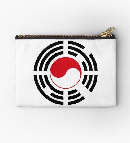 Korean Indonesian Multinational Patriot Flag Series Zipper Pouch