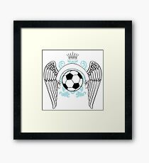 Vintage football graphics Framed Print