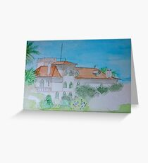 Watercolour View of a Portuguese House Greeting Card