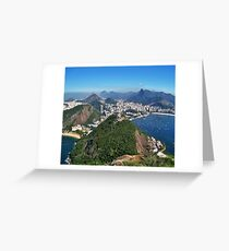Beautiful Rio de Janeiro mountains Greeting Card