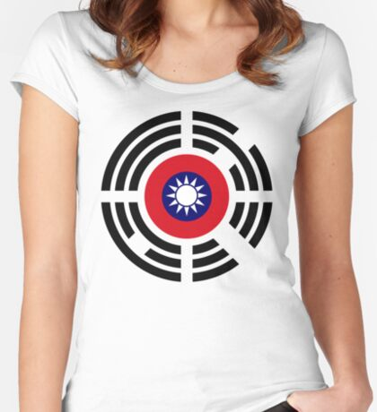 Korean Taiwanese Multinational Patriot Flag Series Fitted Scoop T-Shirt