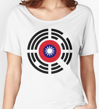 Korean Taiwanese Multinational Patriot Flag Series Relaxed Fit T-Shirt