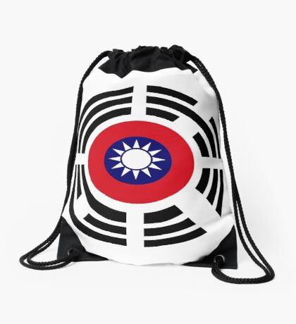 Korean Taiwanese Multinational Patriot Flag Series Drawstring Bag