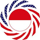 Indonesian American Multinational Patriot Flag Series by Carbon-Fibre Media
