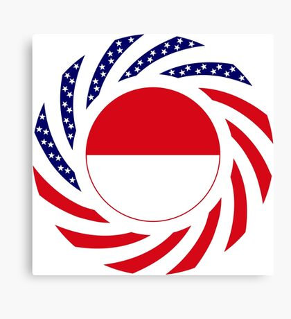 Indonesian American Multinational Patriot Flag Series Canvas Print