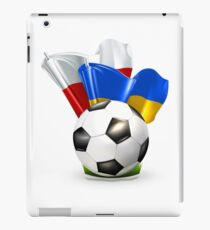 Soccer with Poland and Ukraine glossy flag iPad Case/Skin