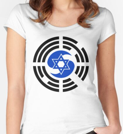Korean Israeli Multinational Patriot Flag Series Fitted Scoop T-Shirt
