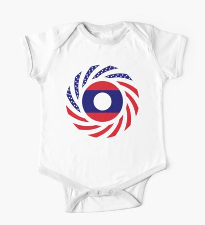 Lao American Multinational Patriot Flag Series Kids Clothes