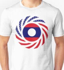 Lao American Multinational Patriot Flag Series Slim Fit T-Shirt