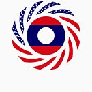 Laotian American Multinational Patriot Flag Series by Carbon-Fibre Media