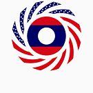 Lao American Multinational Patriot Flag Series by Carbon-Fibre Media