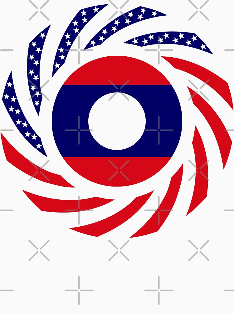 Lao American Multinational Patriot Flag Series by carbonfibreme