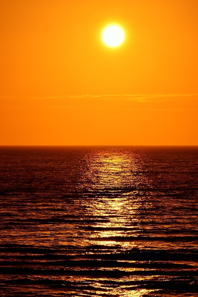 Low Sun on Sea by Stephen Frost