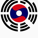 Korean Laotian Multinational Patriot Flag Series by Carbon-Fibre Media