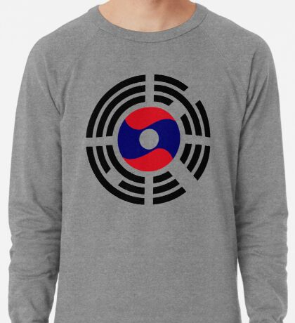 Korean Laotian Multinational Patriot Flag Series Lightweight Sweatshirt