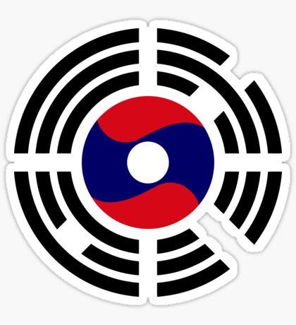 Korean Laotian Multinational Patriot Flag Series Sticker
