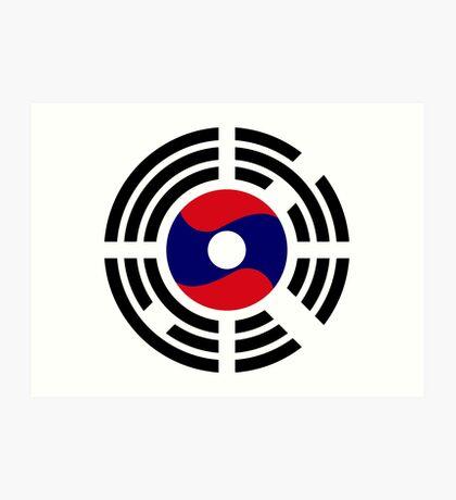 Korean Laotian Multinational Patriot Flag Series Art Print