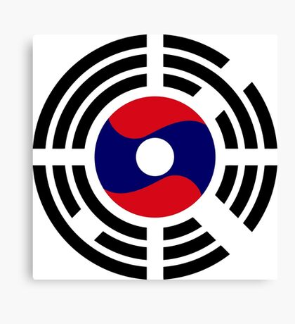 Korean Laotian Multinational Patriot Flag Series Canvas Print