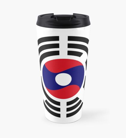 Korean Laotian Multinational Patriot Flag Series Travel Mug