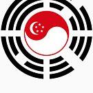 Korean Singapore Multinational Patriot Flag Series by Carbon-Fibre Media